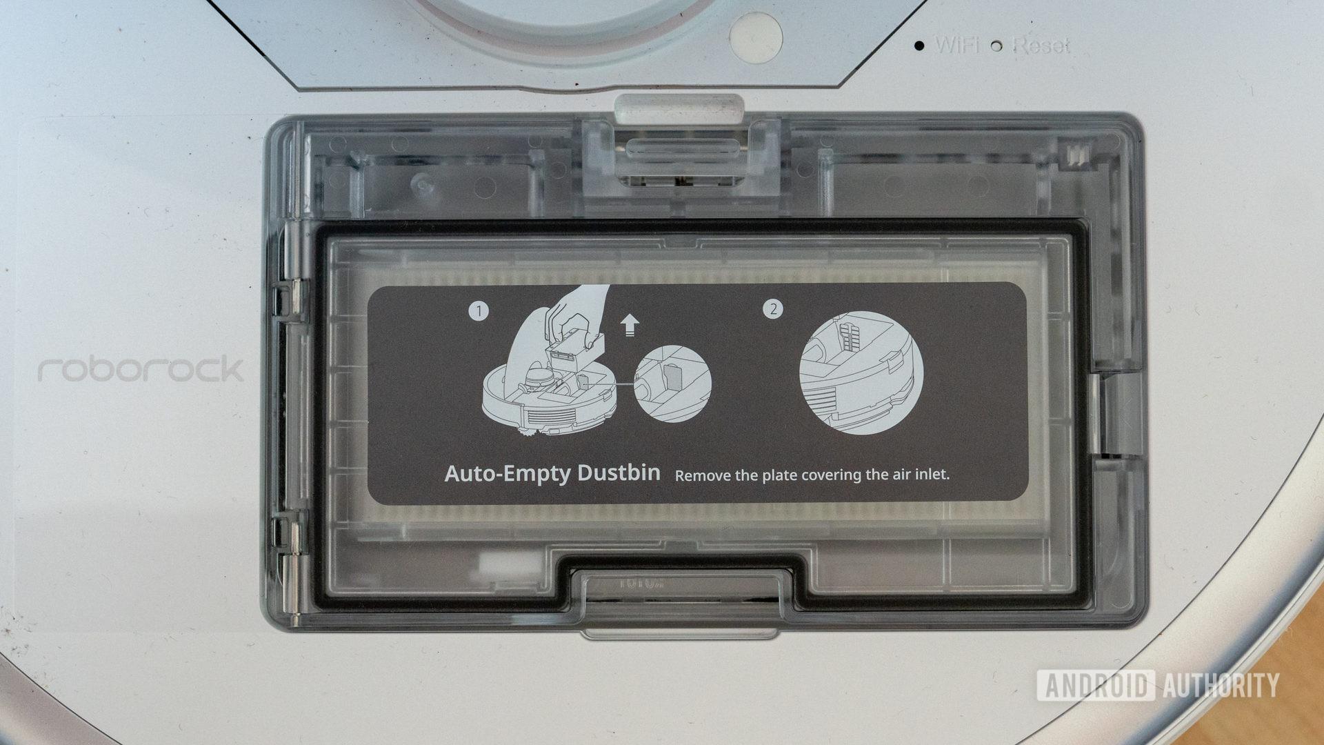 Roborock S7 with auto empty dustbin installed