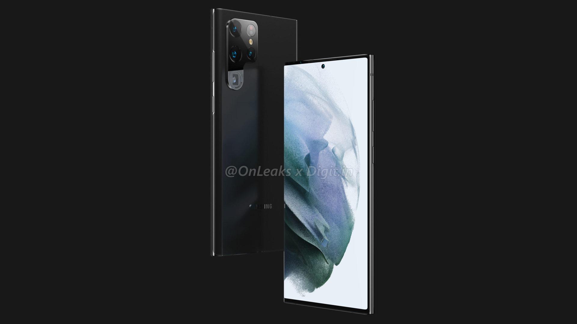 Samsung Galaxy S22 Ultra Leaked Renders 3