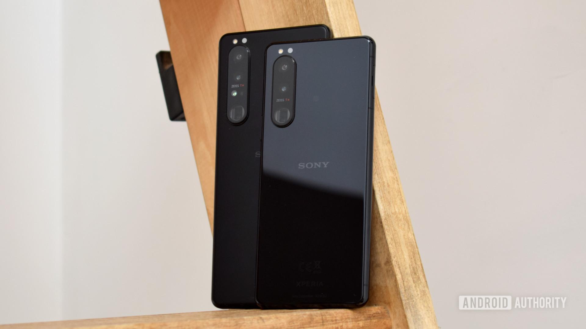 Sony Xperia 1 III vs Sony Xperia 5 III backs stood up