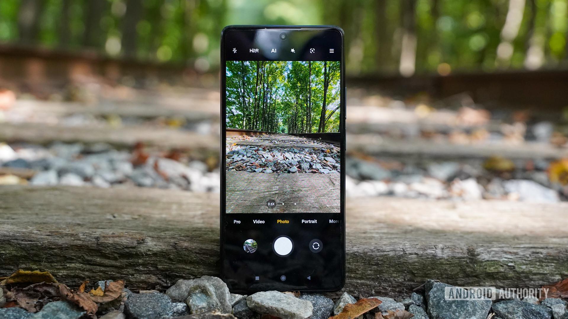 Xiaomi 11T Pro camera app on tracks