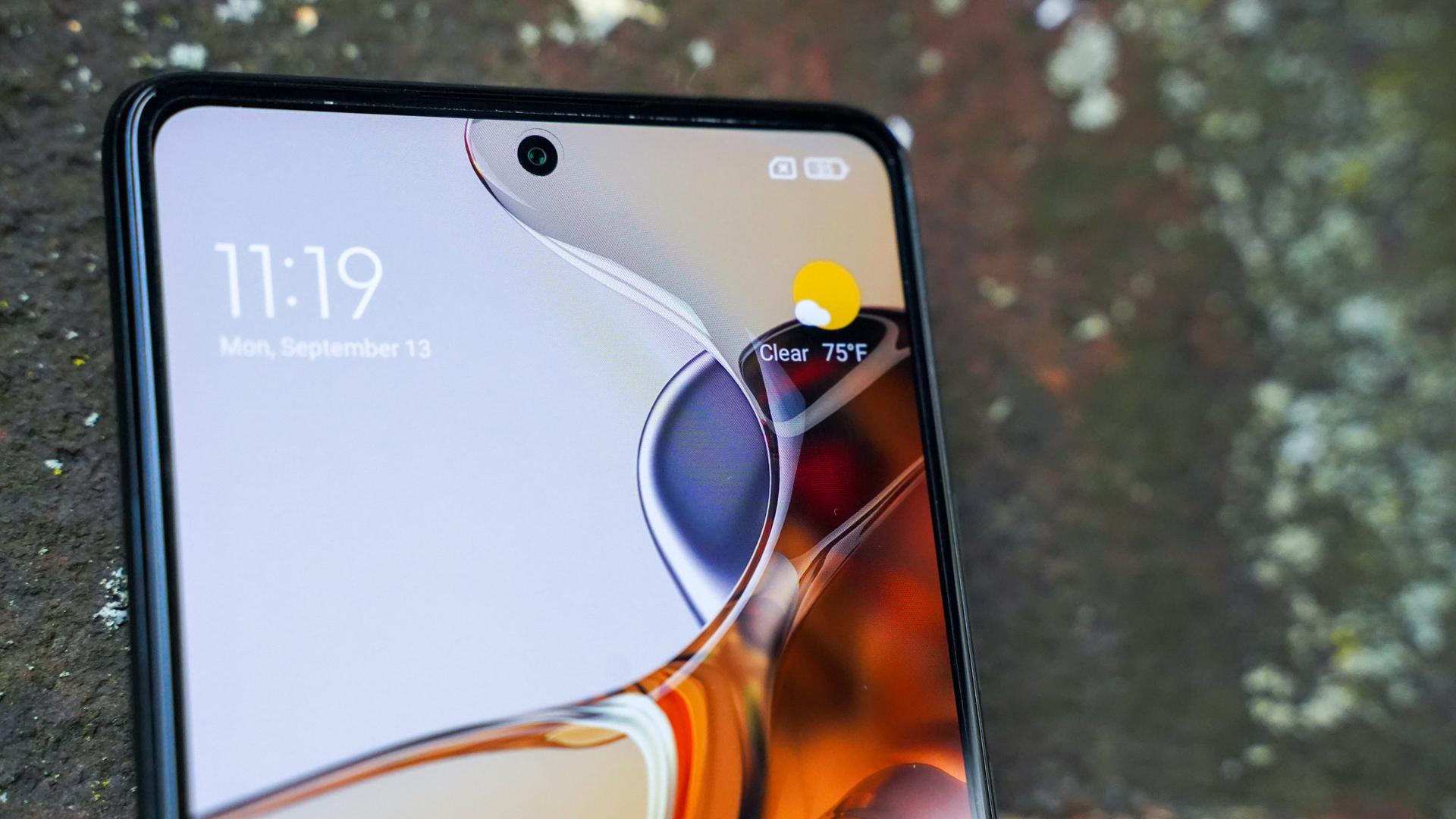 Xiaomi 11T Pro selfie camera closeup
