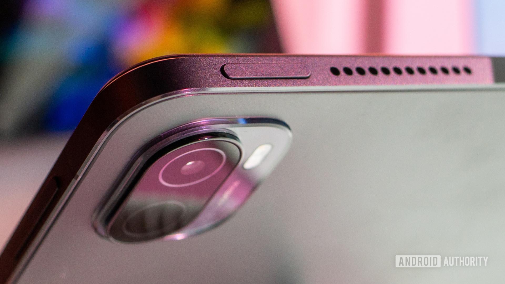 Xiaomi Pad 5 power button and camera closeup
