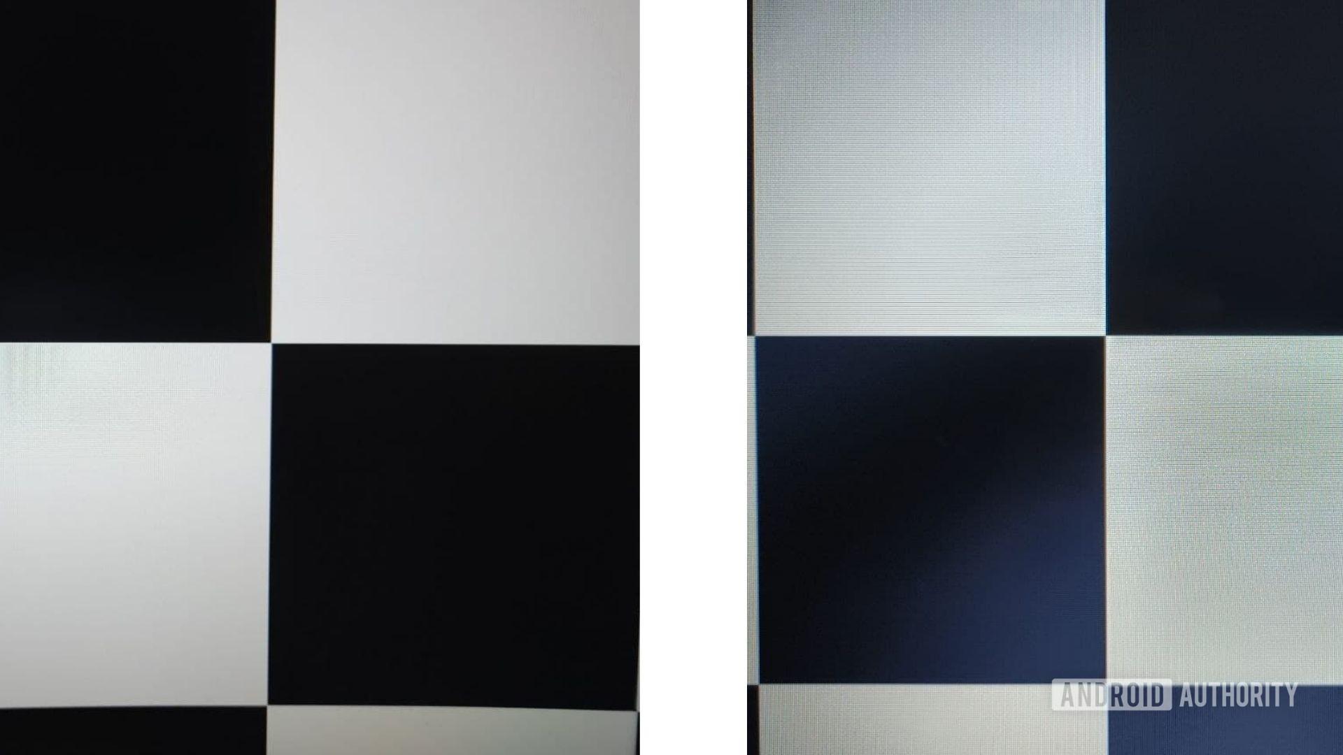 contrast ratio checkerboard test