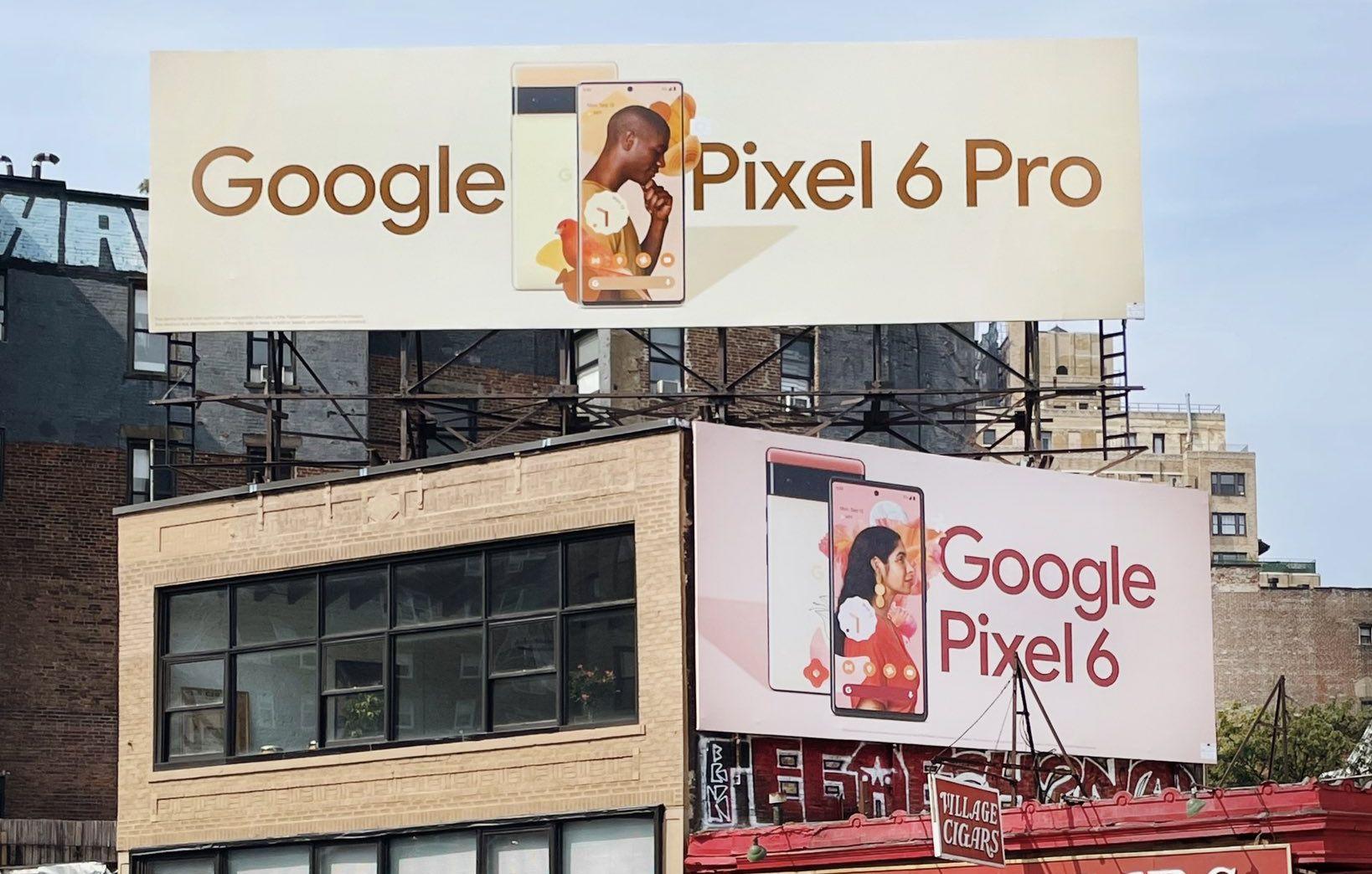 pixel 6 pro billboards