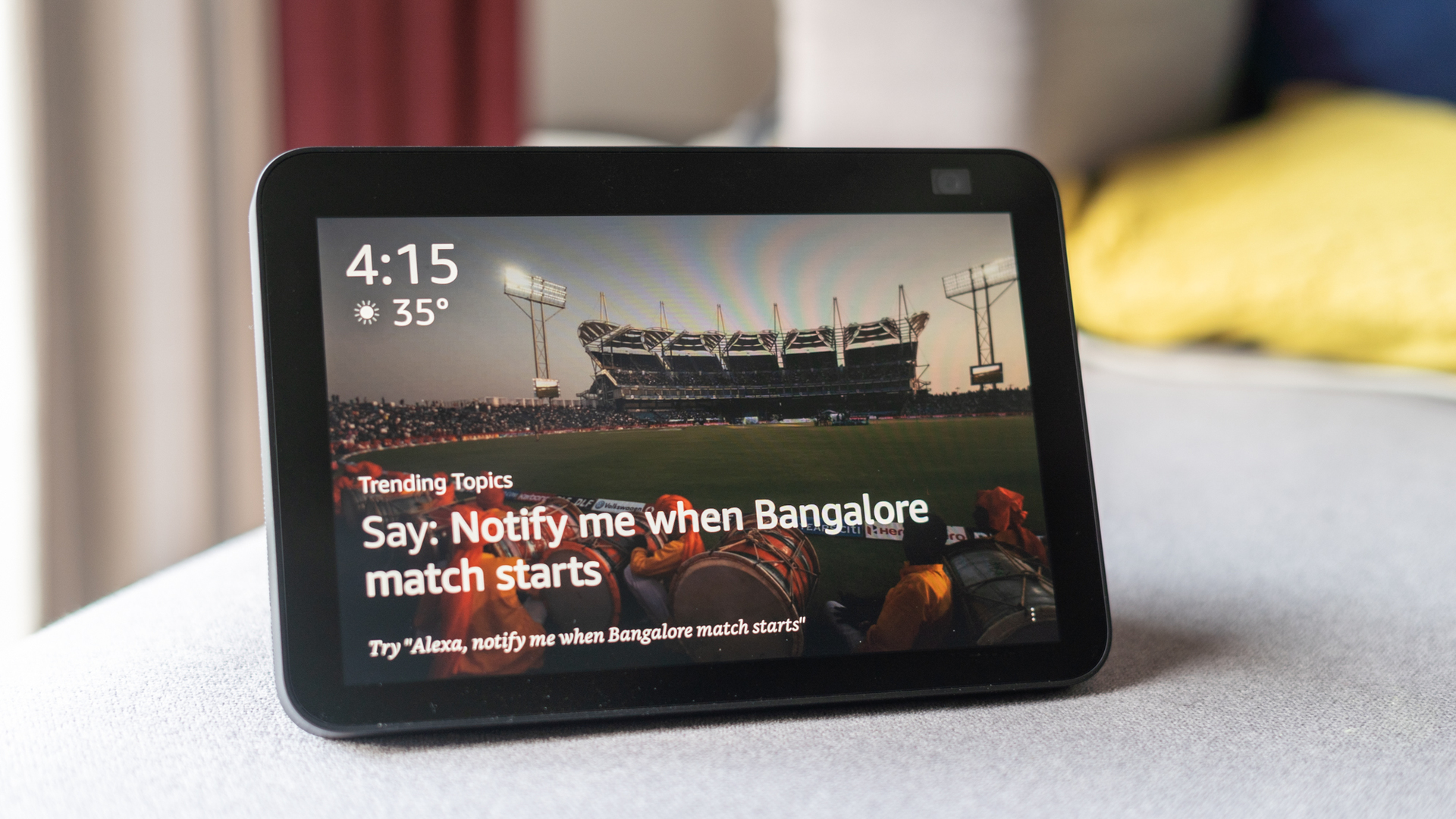 Amazon Echo Show 8 review front profile shot