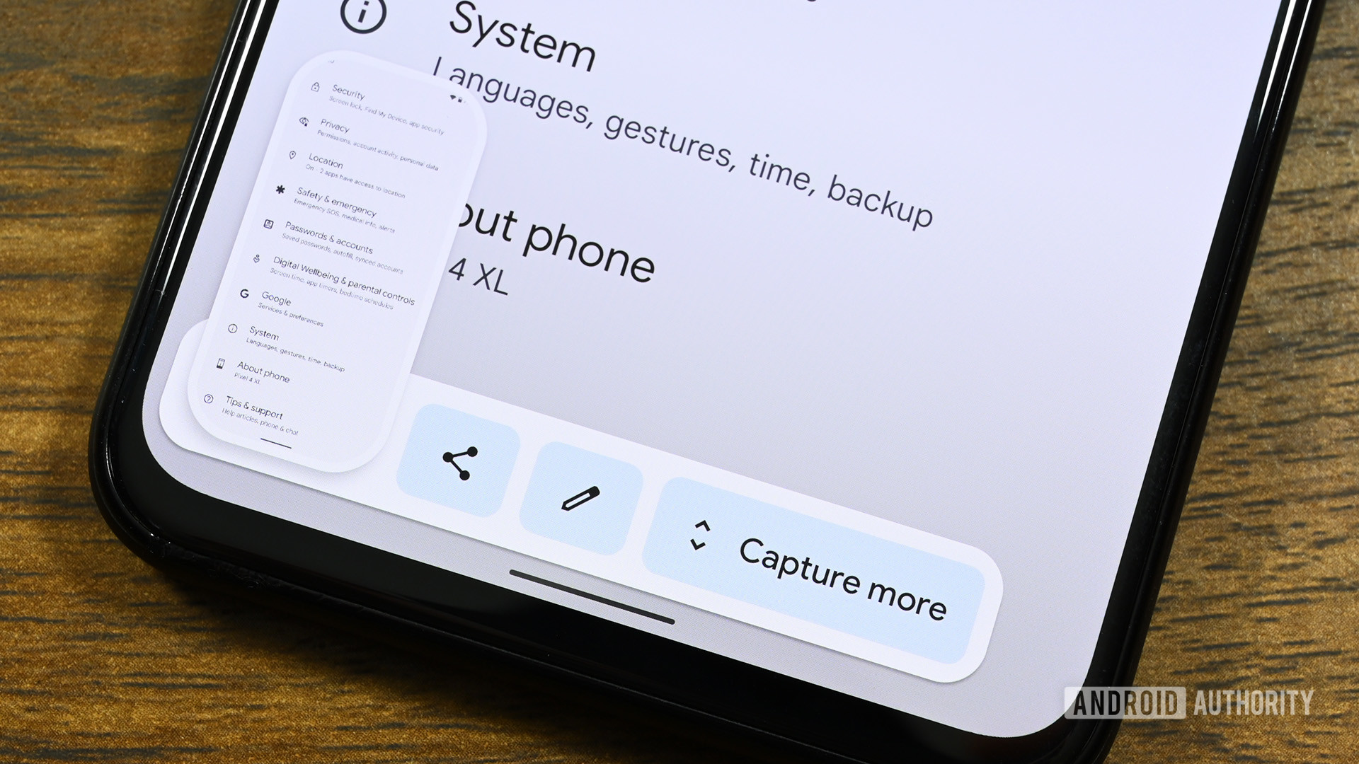 Android 12 Scrolling Screenshot
