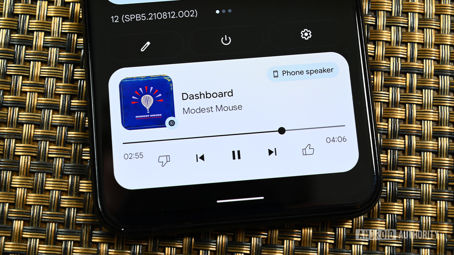 Android 12 media player audio selector