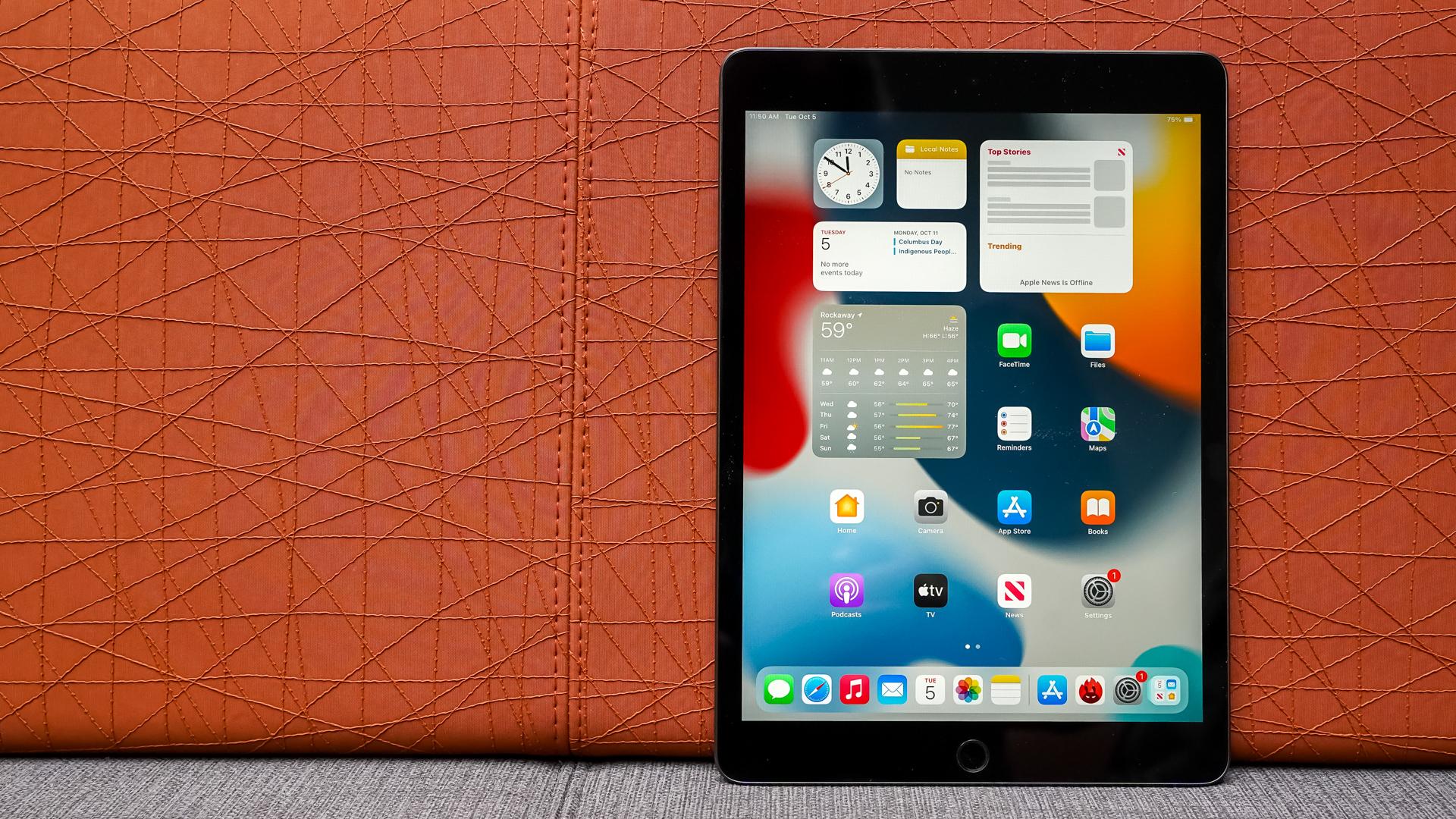 Apple iPad 2021 home screen portrait