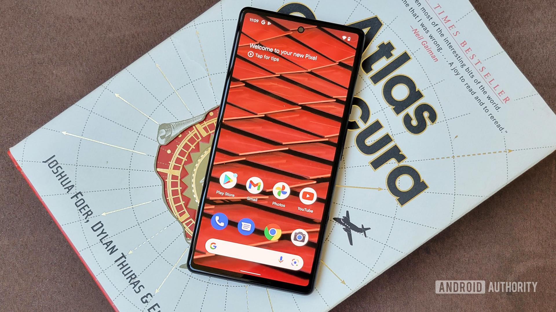 Google Pixel 6 Home Screen on Book