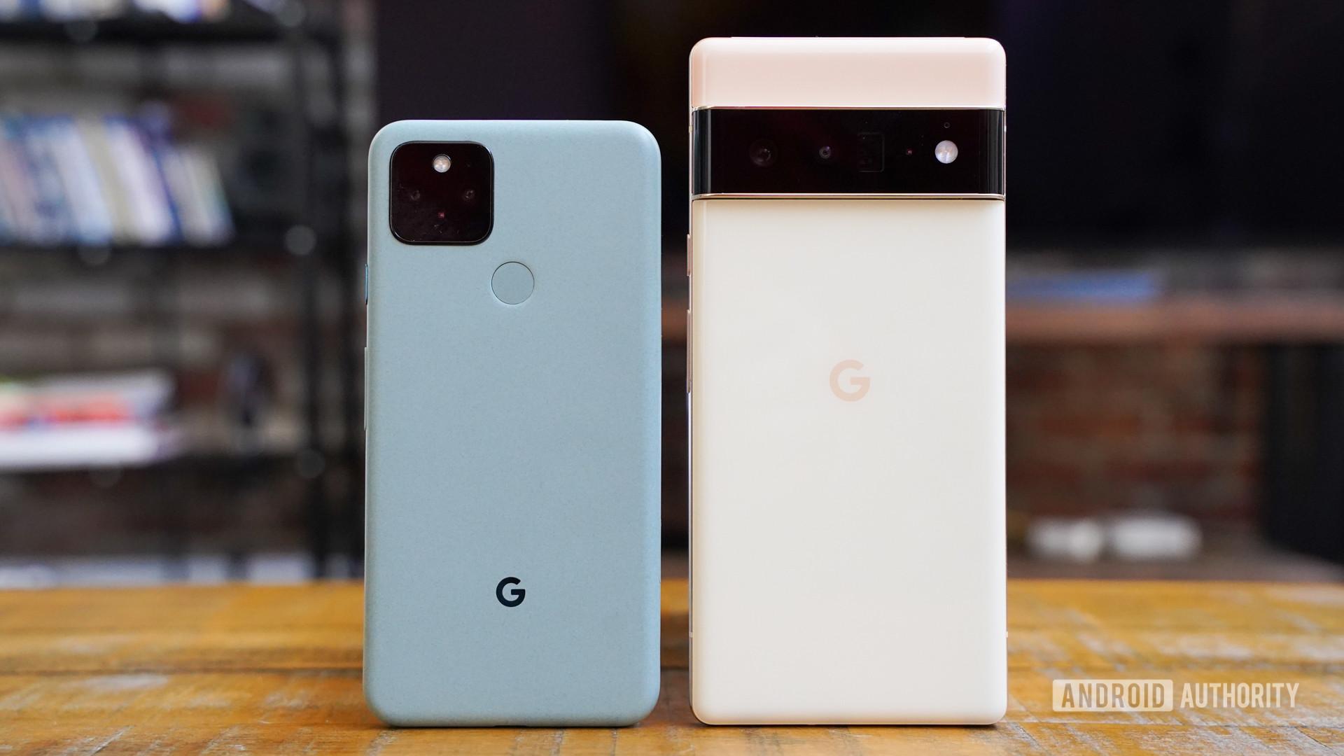 Google Pixel 6 Pro vs Google Pixel 5 reaer