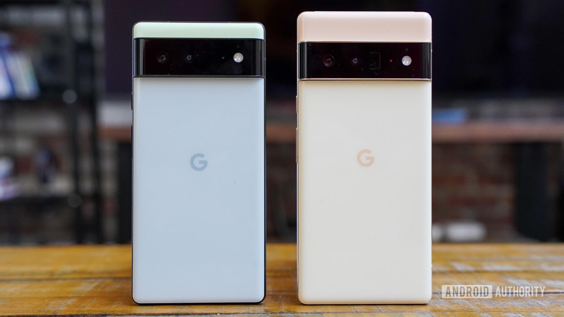 Google Pixel 6 and Pixel 6 Pro rear panels