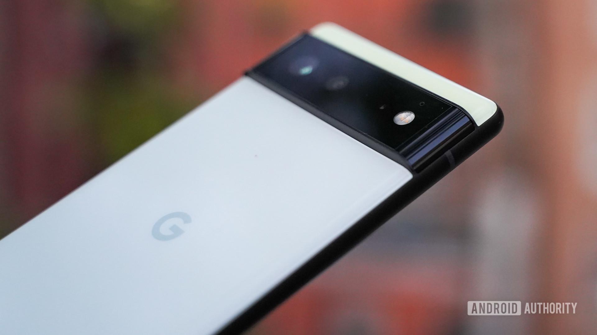 Google Pixel 6 camera closeup