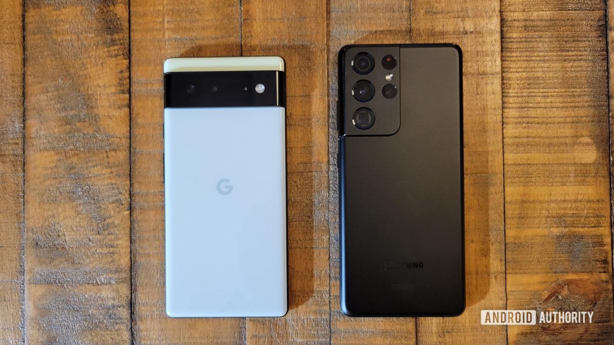 Google Pixel 6 vs Samsung Galaxy S21 Ultra