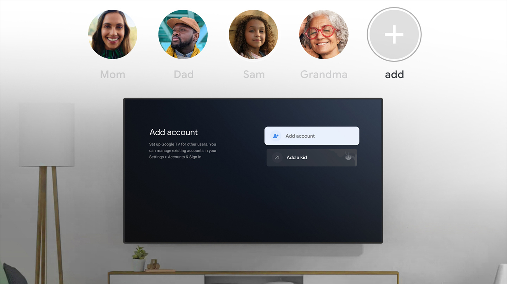 google tv profiles header