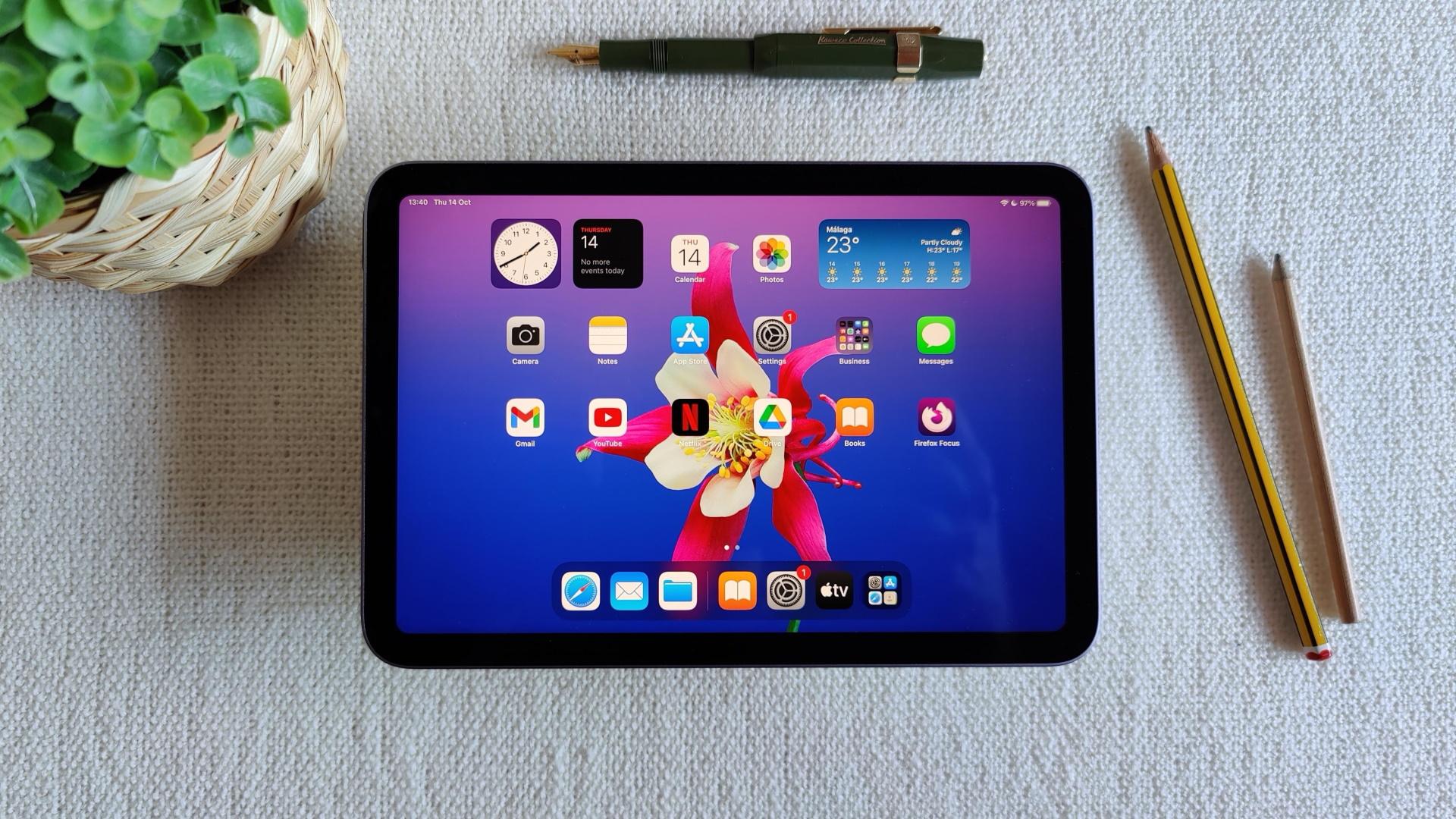 iPad Mini iPadOS 15 homescreen