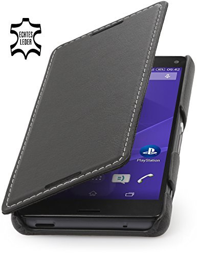 StilGut Book Type Leather Case for Sony Xperia Z3 Compact