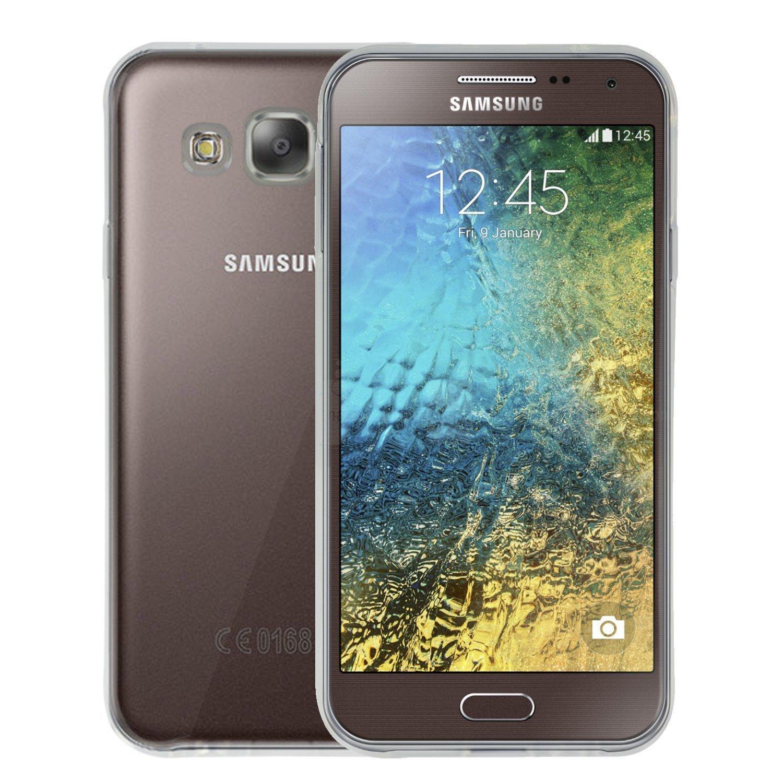 Sojitek Crystal Clear Silicone Case for Samsung Galaxy E5