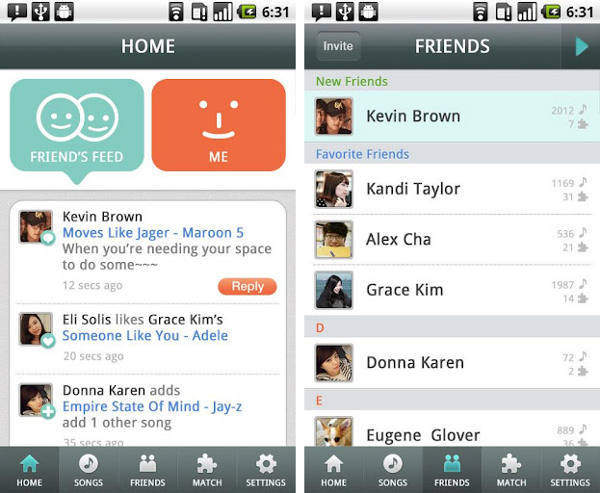 MusicBunk: Social networking app for discovering and sharing