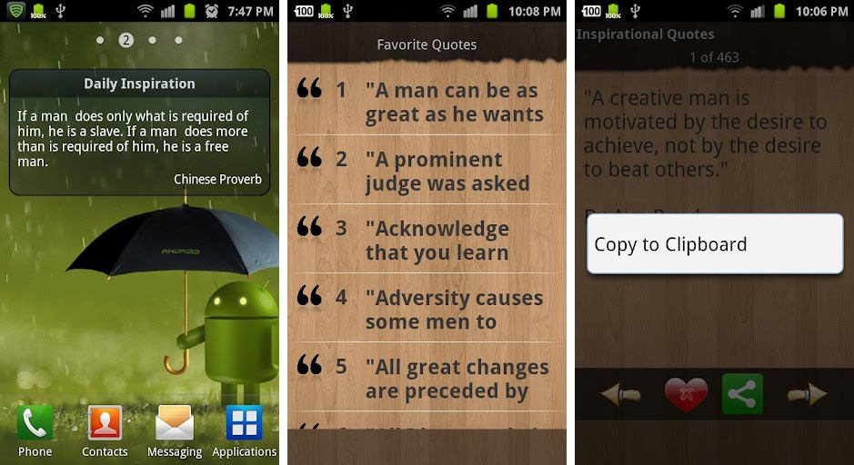 Inspirational Proverbs New Best Inspirational And Motivational Apps For Android  Android