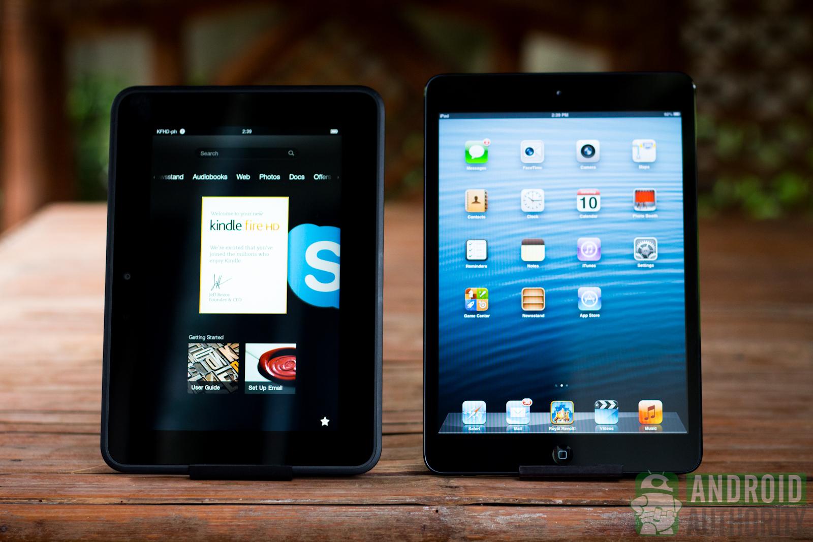 Apple iPad mini vs Amazon Kindle Fire HD