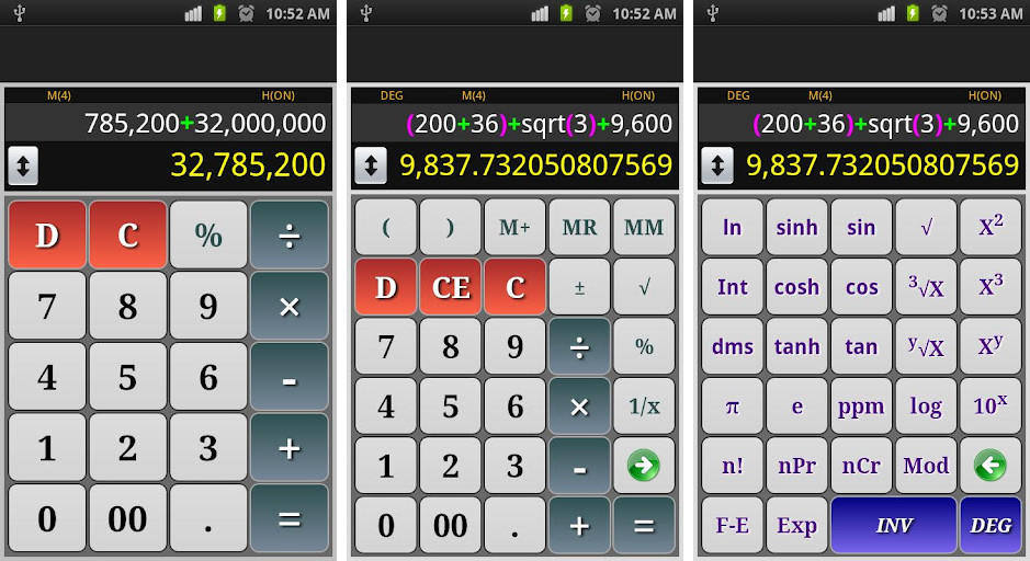 Calculator app for android